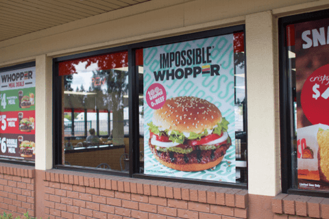 Plant-based foods such as Burger King's Impossible Whopper are becoming increasingly popular in 2019